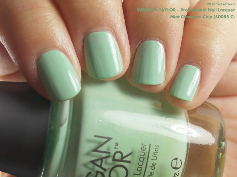Morgan Taylor Professional Nail Lacquer in Mint Chocolate Chip, swatch