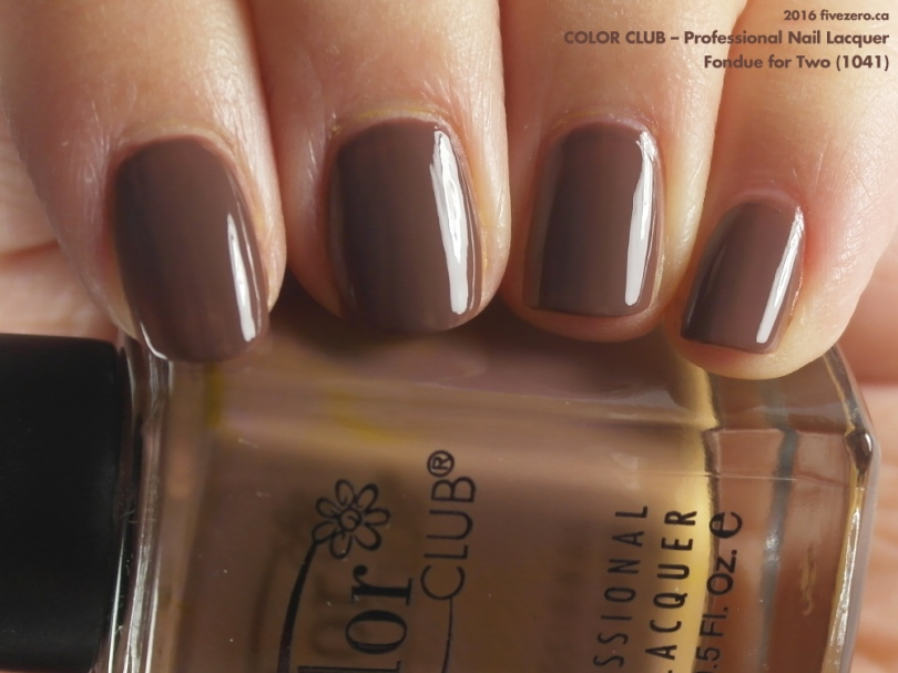 Color Club Professional Nail Lacquer in Fondue for Two, swatch