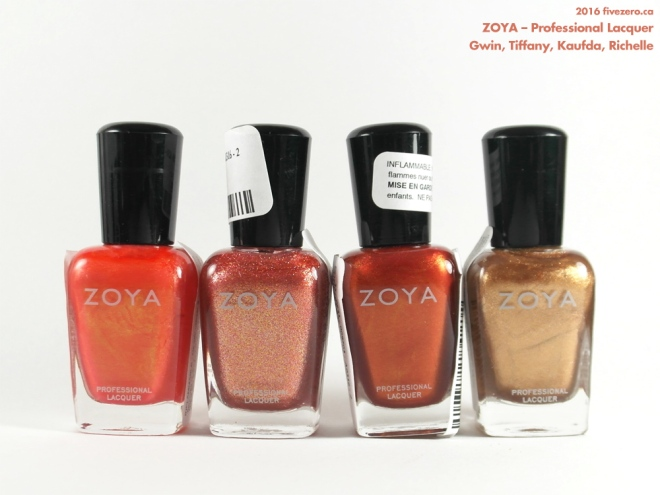 Winners haulage March 2016, Zoya Professional Lacquers in Gwin, Tiffany, Kaufda, Richelle