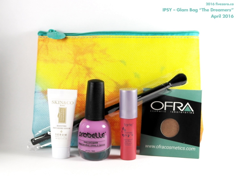 "Ipsy — April 2016 Glam Bag ""The Dreamers"" – fivezero"