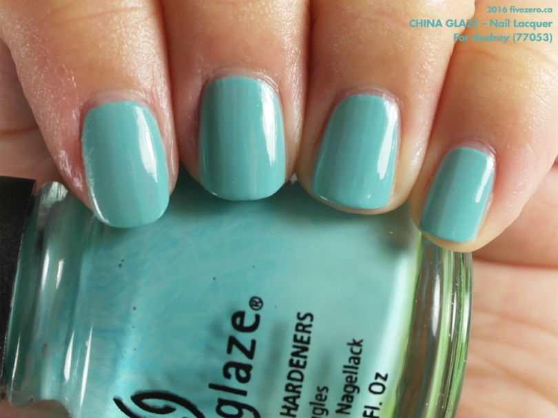 53aa7aba406 Throwback Thursday! China Glaze — For Audrey (Nail Lacquer) Swatch ...