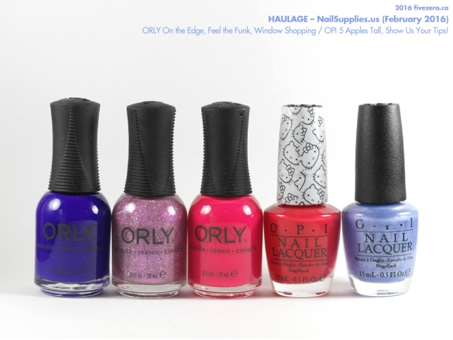 NailSupplies.us Haulage: ORLY On the Edge, Feel the Funk, Window Shopping / OPI 5 Apples Tall, Show Us Your Tips!