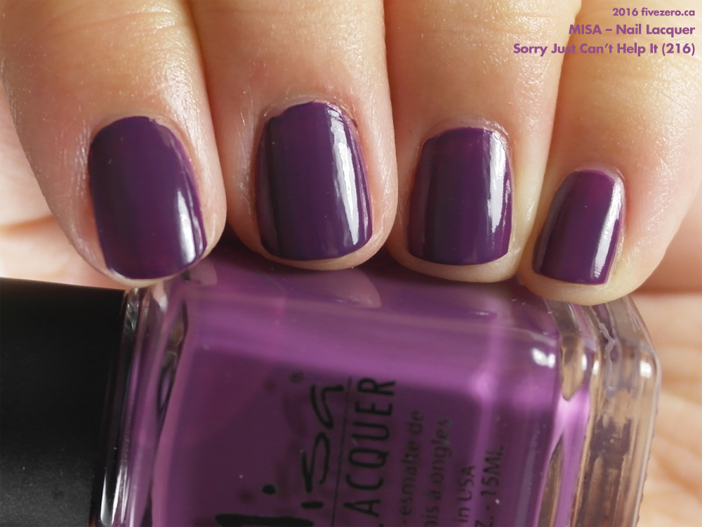 Throwback Thursday! Misa — Sorry Just Can\'t Help It (Nail Lacquer ...