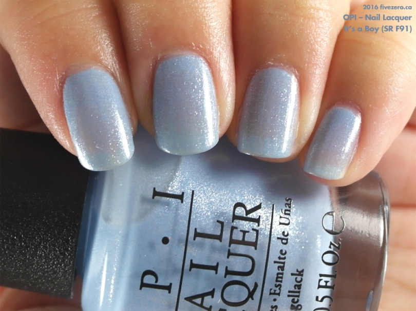 OPI Nail Lacquer In Its A Boy SR F91 Swatch