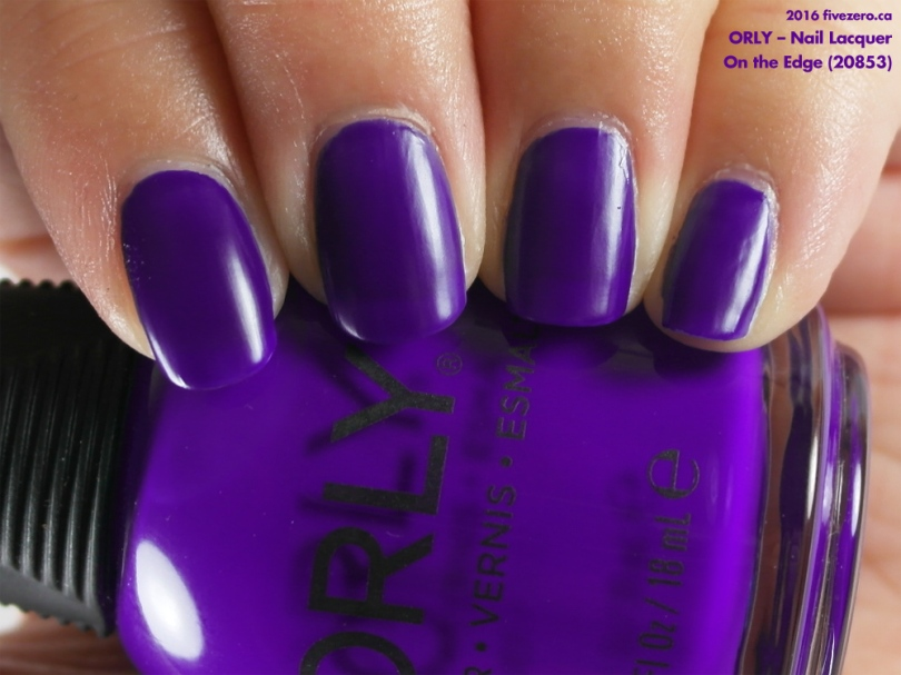 Orly — On the Edge (Nail Lacquer) Swatch & Review – fivezero
