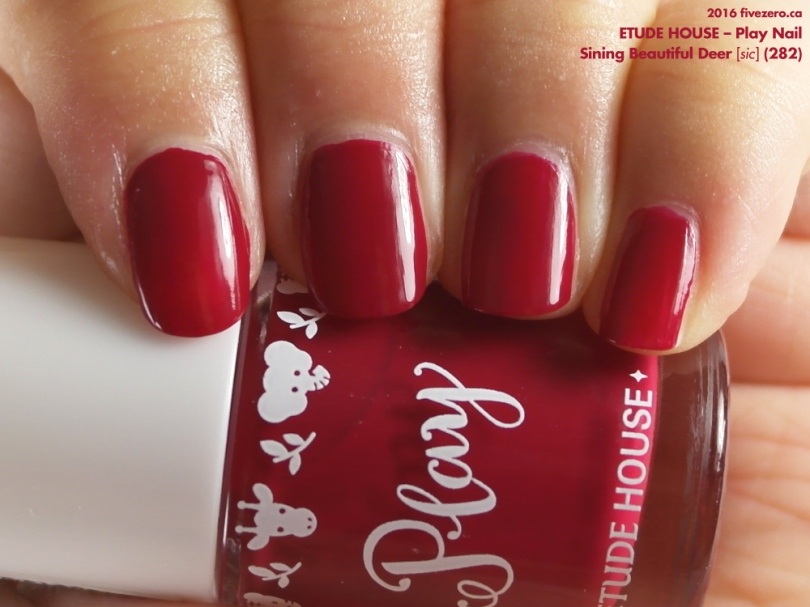 Etude House Play Nail in Sining Beautiful Deer [sic] (282), swatch