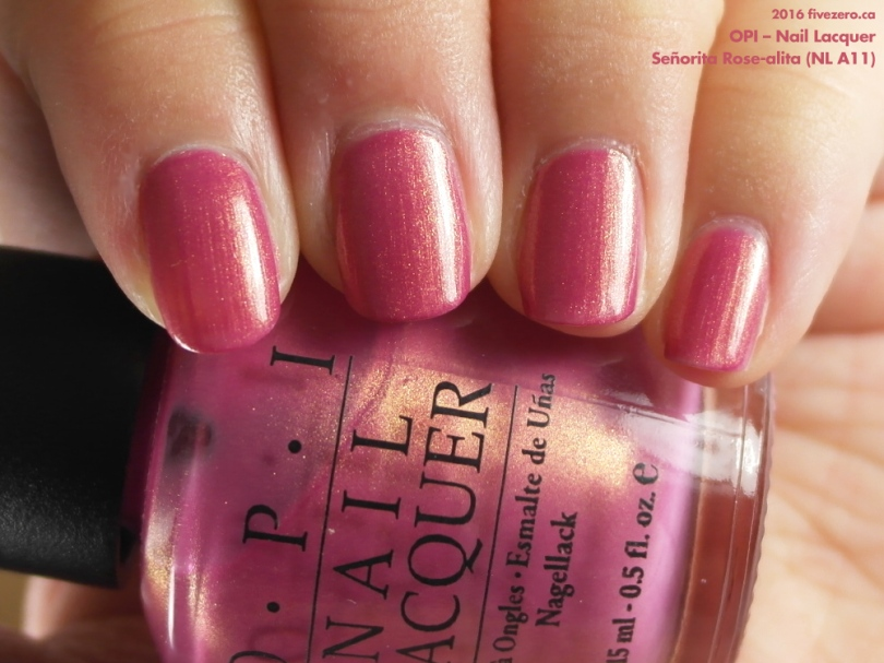 Throwback Thursday! OPI — Señorita Rose-alita (Nail Lacquer) Swatch ...