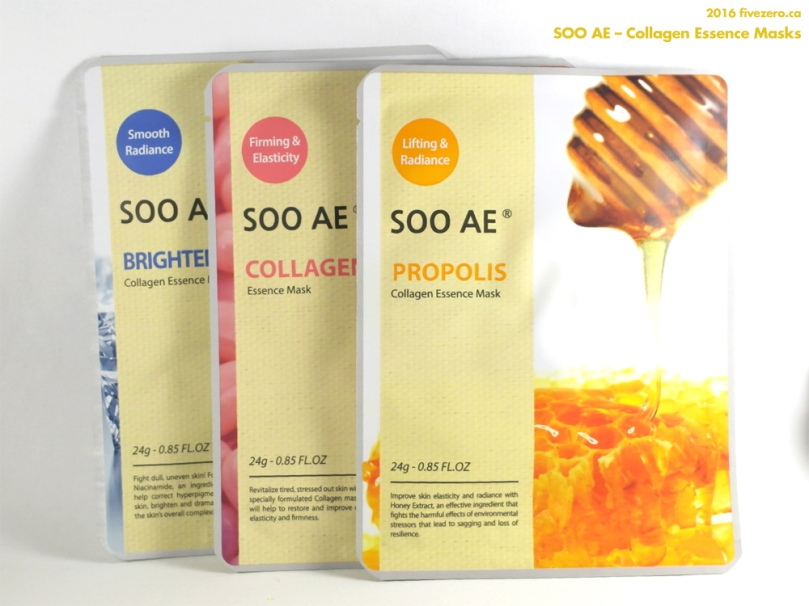 SOO AE Collagen Essence Sheet Masks, 3 pc