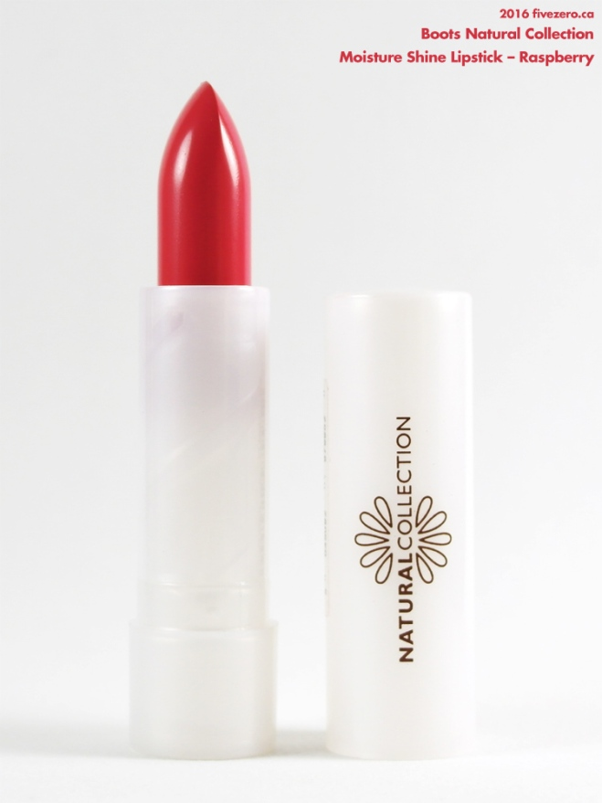 Natural Collection Moisture Shine Lipstick in Raspberry