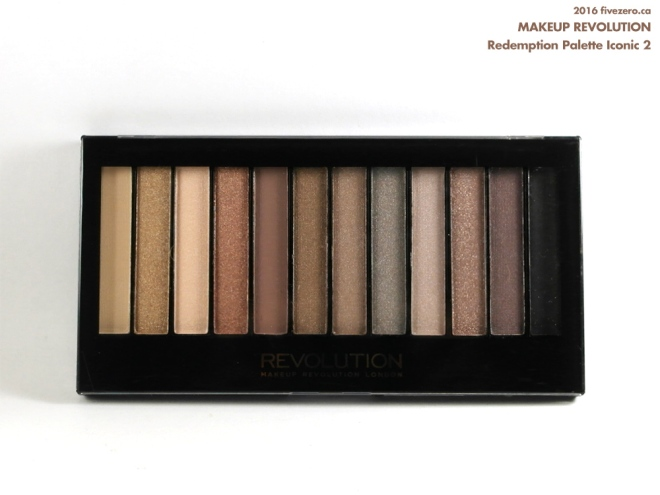 Makeup Revolution Eyeshadow Palette in Redemption Iconic 2