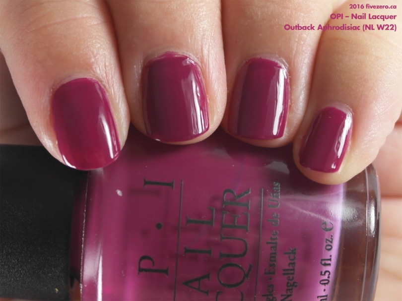 OPI Nail Lacquer in Outback Aphrodisiac, swatch