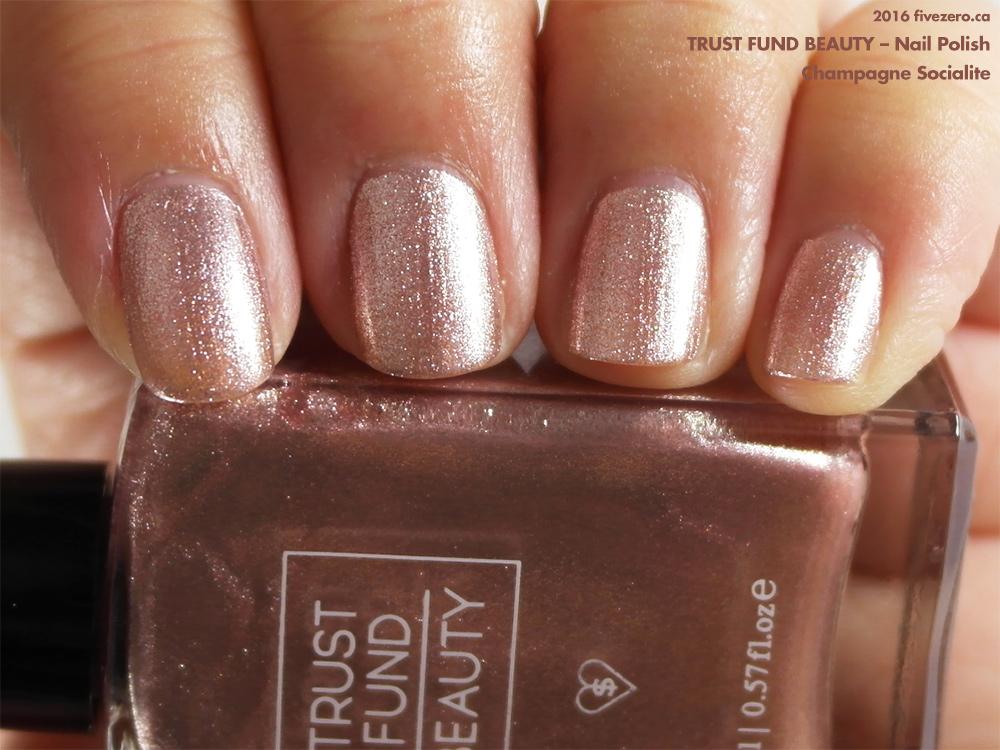 trust fund beauty  u2014 champagne socialite  nail polish  swatch  u0026 review  u2013 fivezero