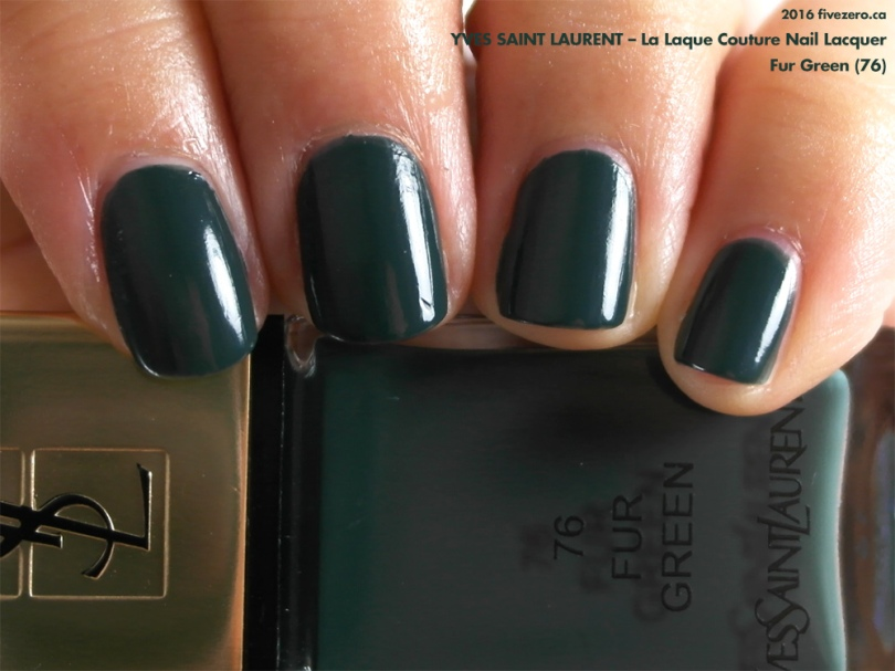 Yves Saint Laurent La Laque Couture Nail Lacquer in Fur Green, swatch