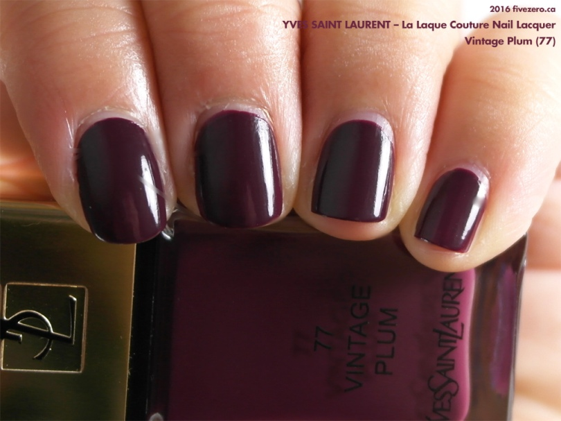 Yves Saint Laurent La Laque Couture Nail Lacquer in Vintage Plum, swatch