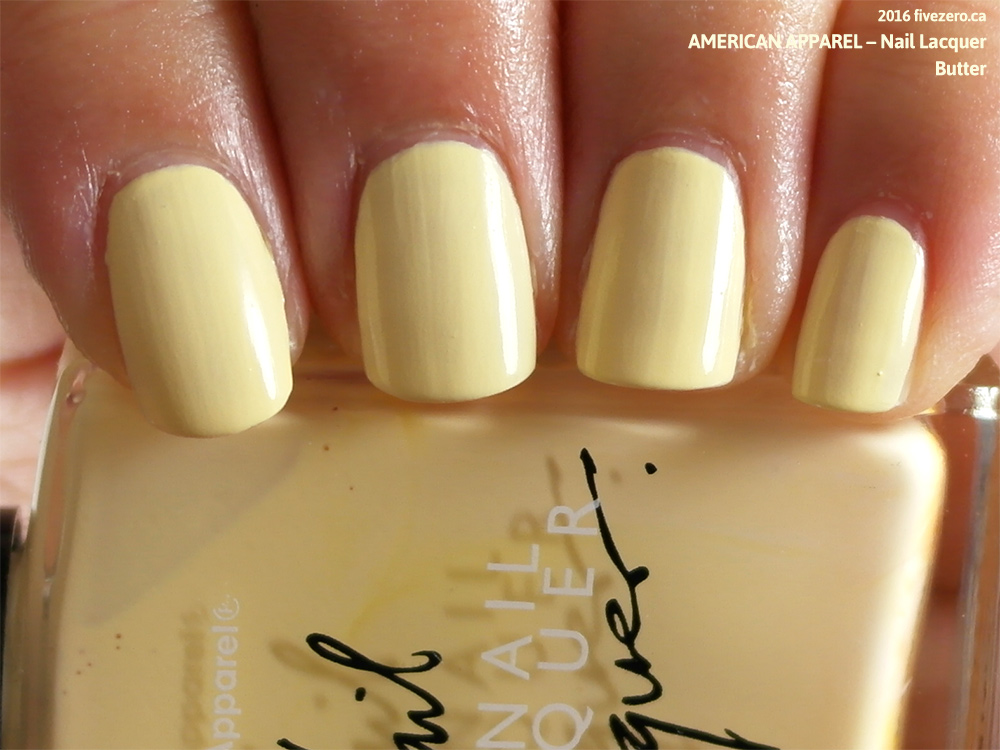Throwback Thursday! American Apparel — Butter (Nail Lacquer) Swatch & Review