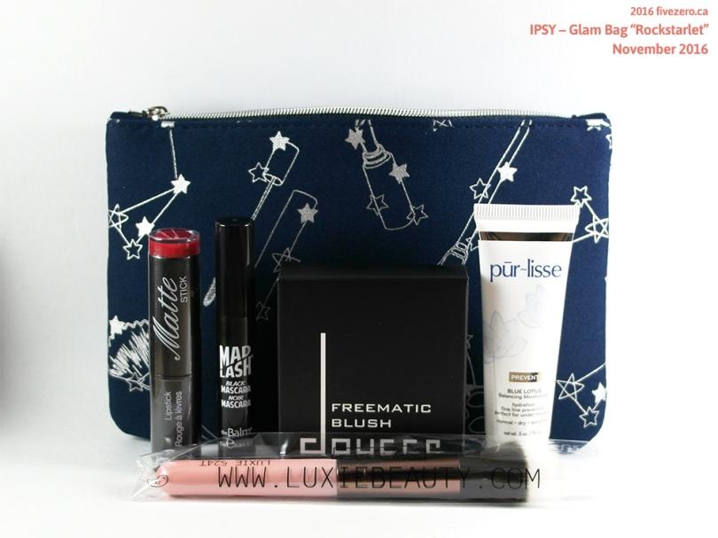 "Ipsy fivezero's Glam Bag ""Rockstarlet"" November 2016"