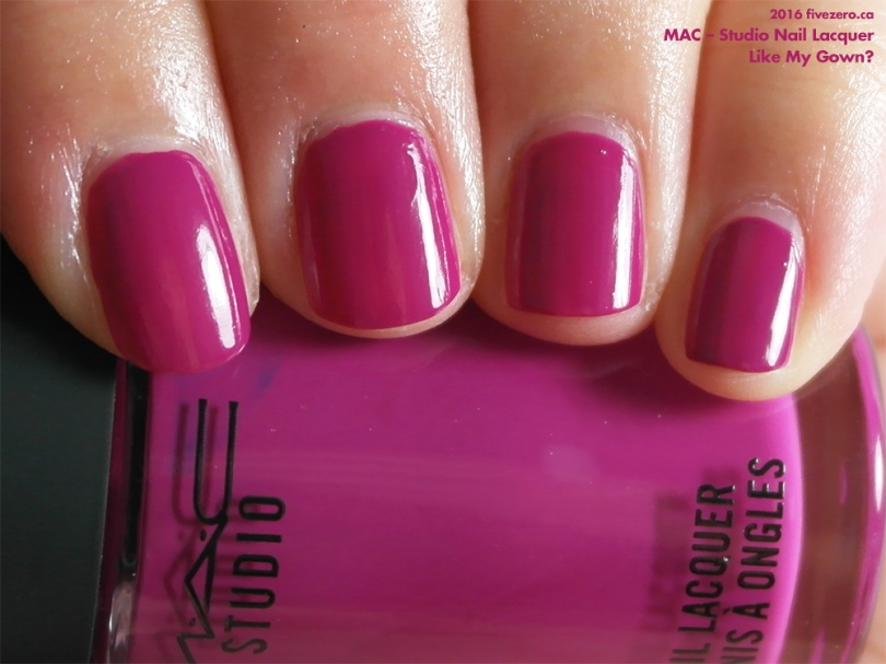 MAC — Like My Gown? (Studio Nail Lacquer) Swatch & Review – fivezero