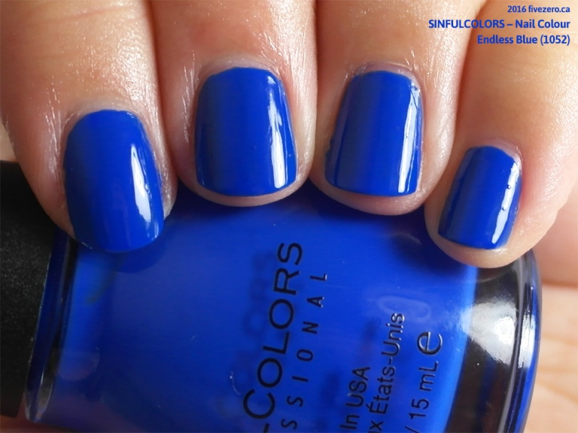 SinfulColors Nail Colour in Endless Blue, swatch