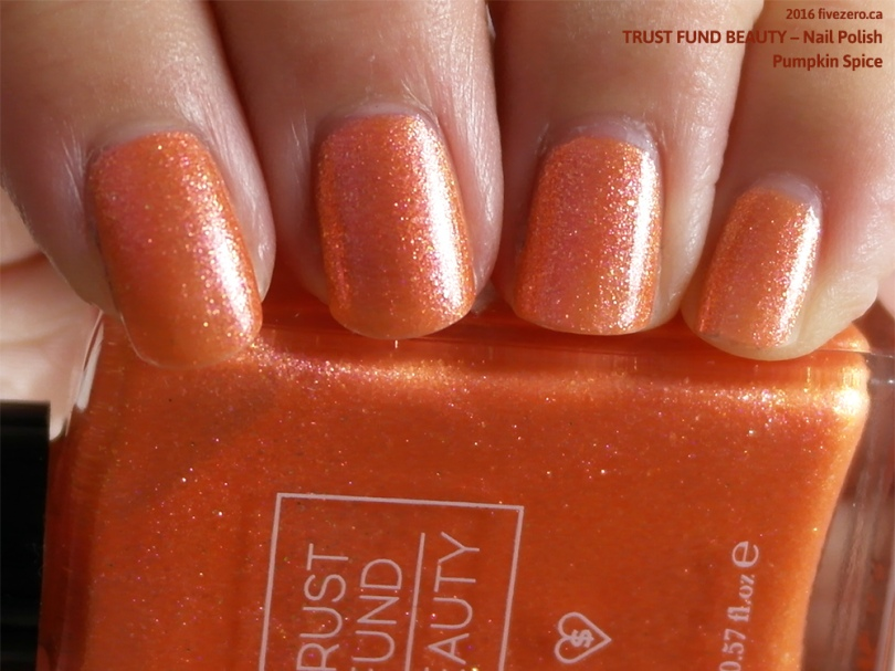 Trust Fund Beauty Nail Polish in Pumpkin Spice, swatch