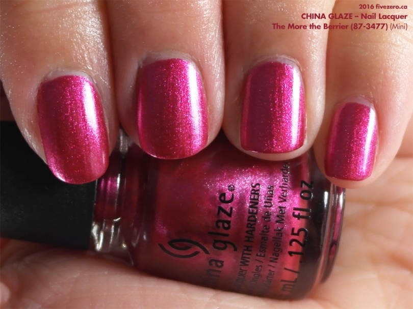 China Glaze Nail Lacquer in The More the Berrier, swatch