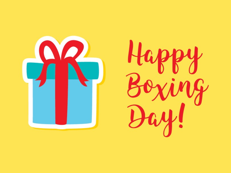 Happy Boxing Day! (gift icon from Vecteezy)