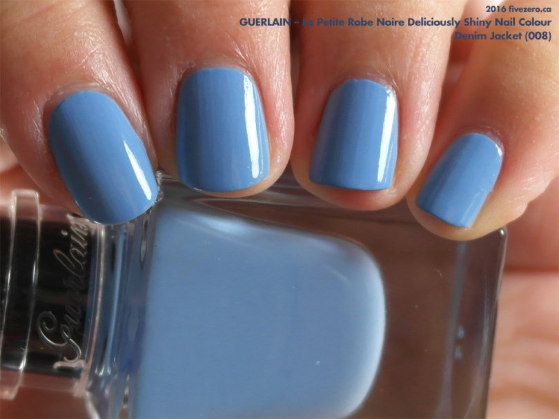 Guerlain La Petite Robe Noire Deliciously Shiny Nail Colour in Denim Jacket, swatch