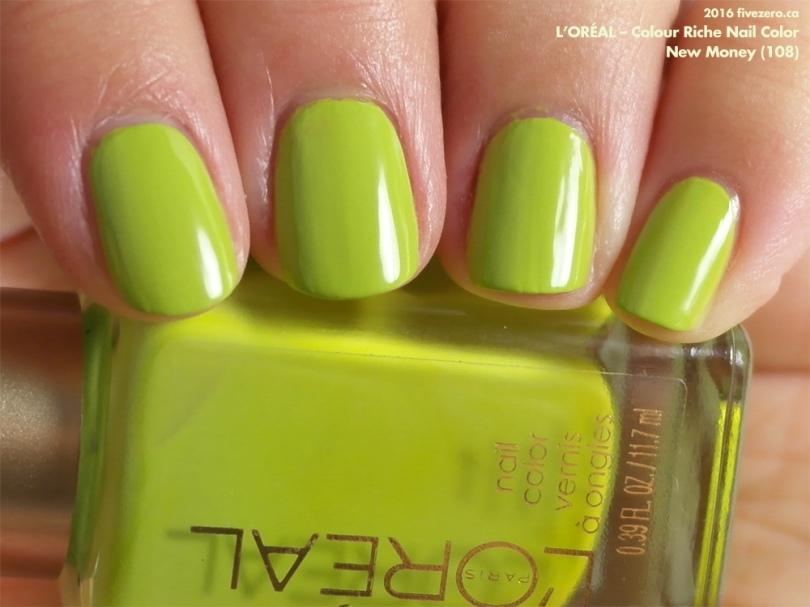 L\'Oréal — New Money (Colour Riche Nail Color) Swatch & Review – fivezero