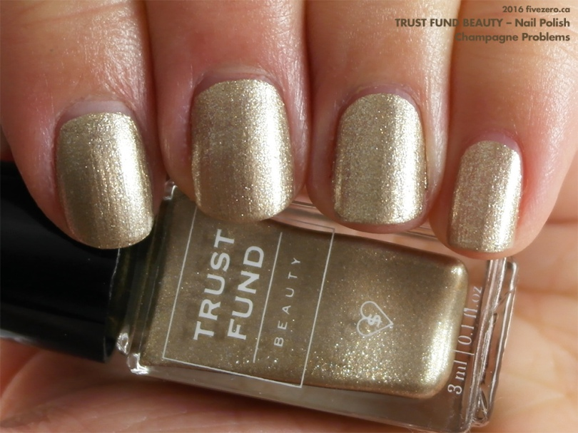 Trust Fund Beauty Nail Polish in Champagne Problems, swatch