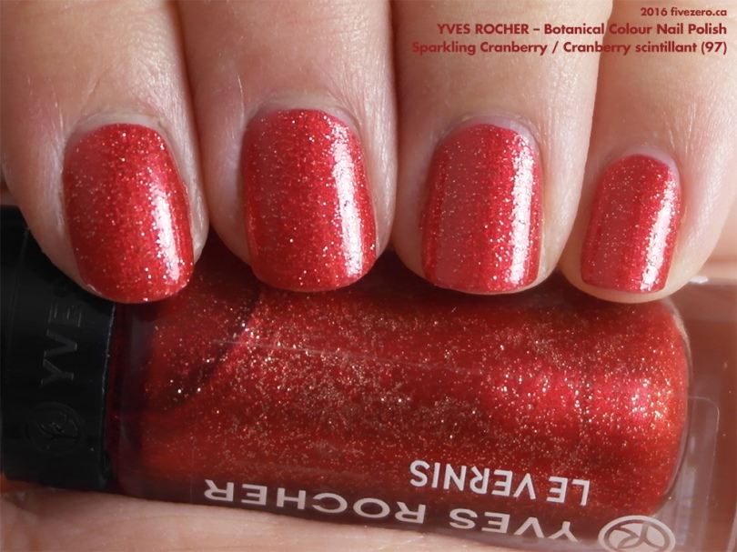 Yves Rocher Botanical Colour Nail Polish in Sparkling Cranberry / Cranberry scintillant, swatch