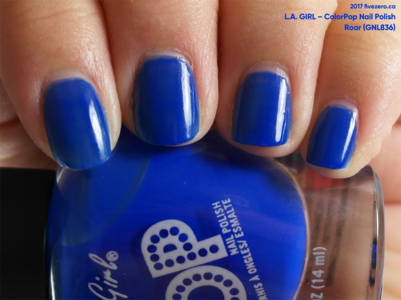 L.A. Girl ColorPop Nail Polish in Roar, swatch