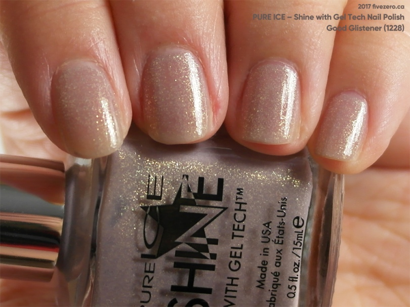 Pure Ice Shine with Gel Tech Nail Polish in Good Glistener, swatch