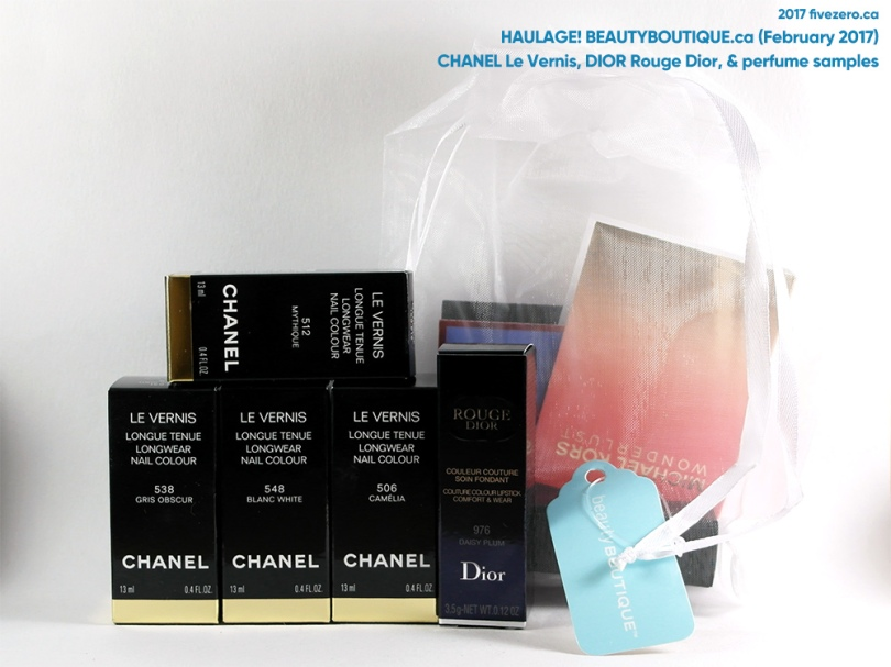Haulage! beautyBOUTIQUE by Shoppers Drug Mart (February 2017) fivezero's Chanel & Dior haulage