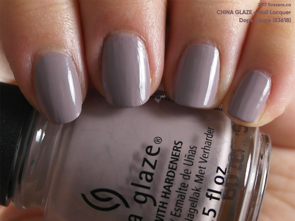 China Glaze Dope Taupe Nail Lacquer Swatch Amp Review Fivezero