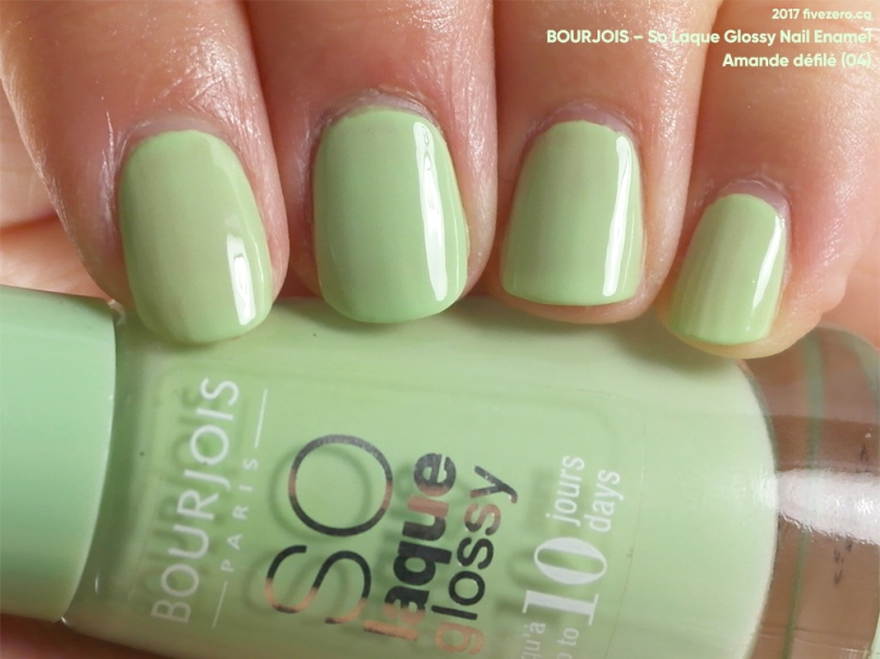 Bourjois So Laque Glossy Nail Enamel in Amande défilé, swatch