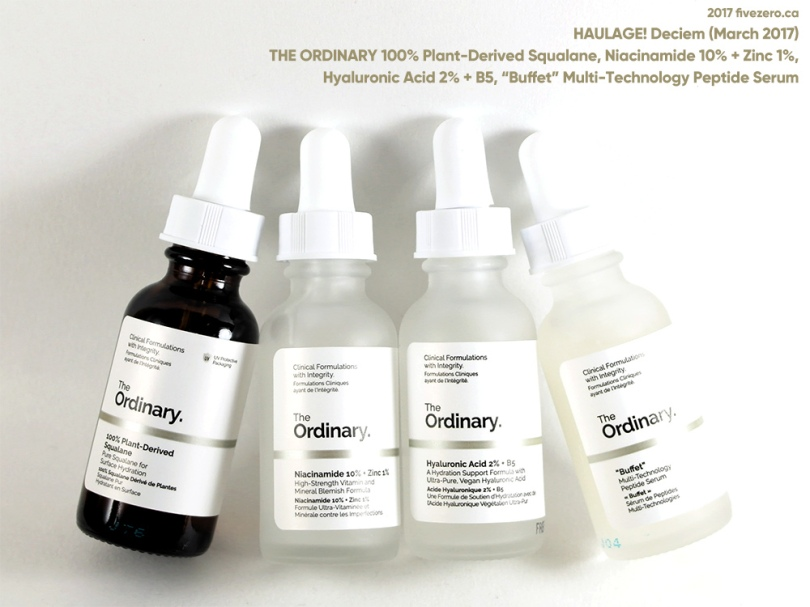 Haulage! The Ordinary by Deciem, Part I (March 2017)