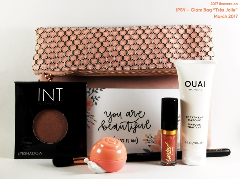 "fivezero's IPSY Glam Bag ""Très Jolie"" March 2017"