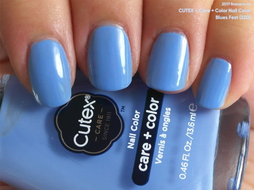 Cutex Care + Color Nail Color in Blues Fest, swatch