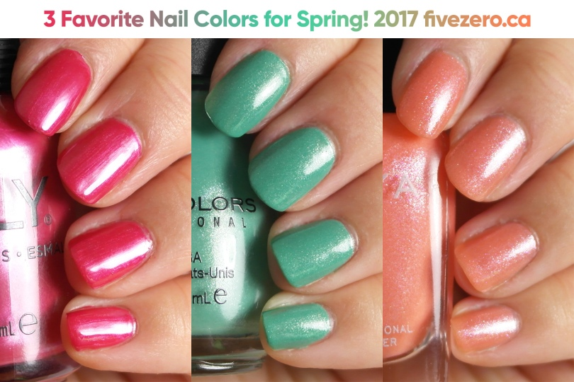 fivezero, 3 Spring Nail Favorites (Collaboration)