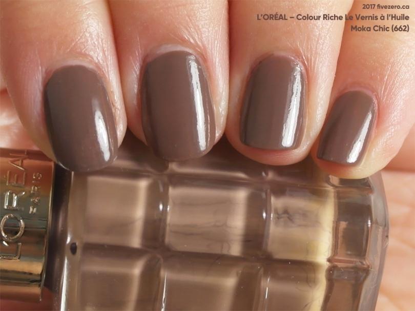 L'Oréal Colour Riche Le Vernis à l'Huile in Moka Chic, swatch