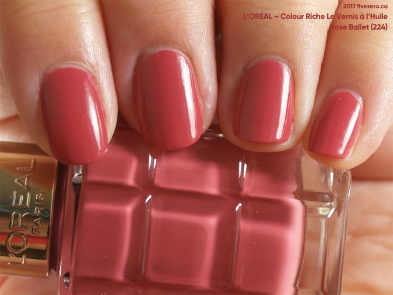 L'Oréal Colour Riche Le Vernis à l'Huile in Rose Ballet, swatch
