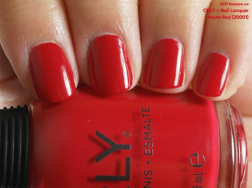 Orly Nail Lacquer in Haute Red, swatch