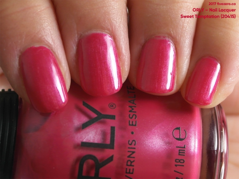 Orly Nail Lacquer in Sweet Temptation, swatch