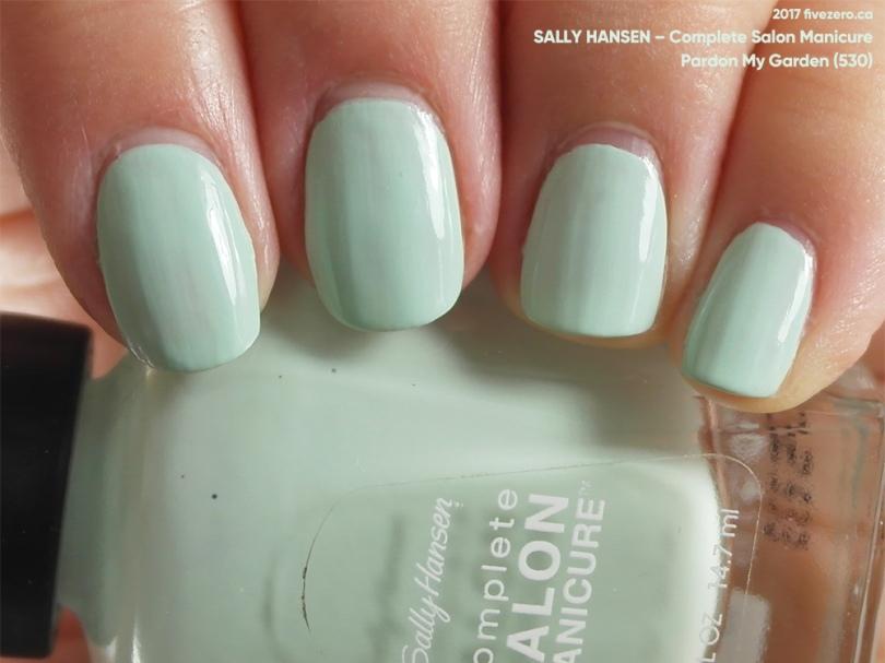 Sally Hansen — Pardon My Garden (Complete Salon Manicure) Swatch ...