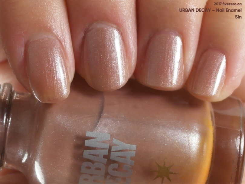 Urban Decay Nail Enamel in Sin, swatch