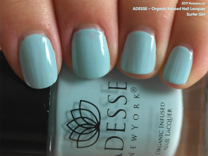 Adesse Organic Infused Nail Lacquer in Surfer Girl, swatch