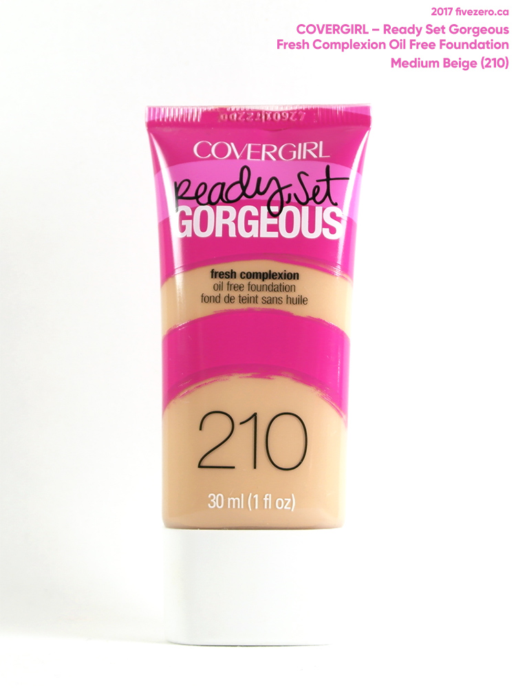 Covergirl Ready Set Gorgeous Oil Free Foundation Review