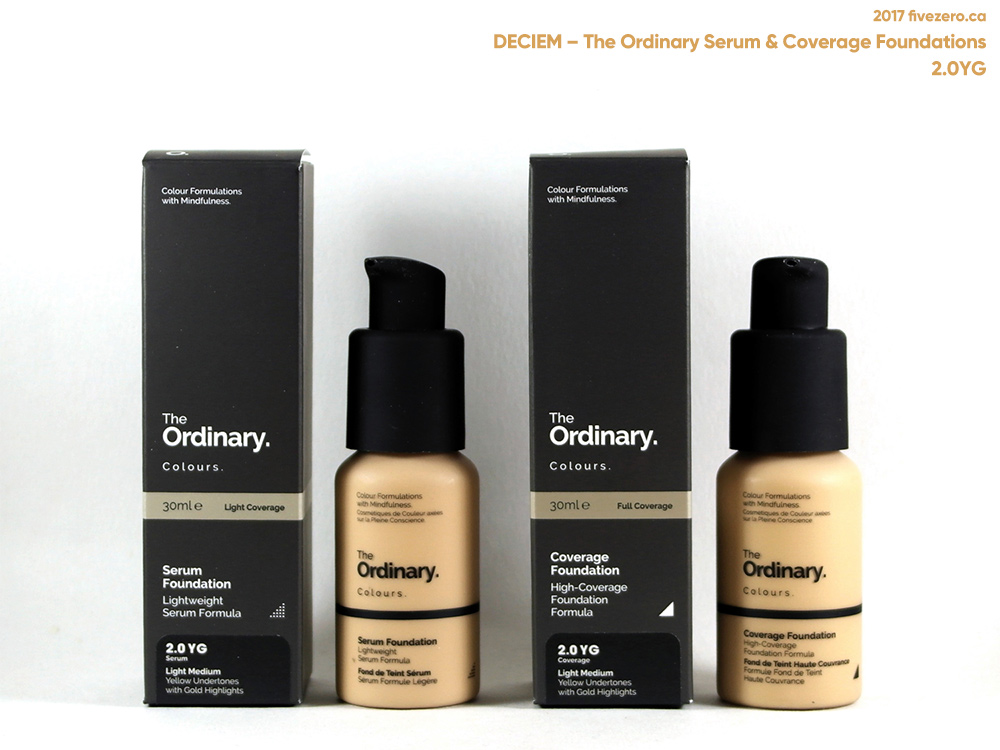 Deciem The Ordinary Colours Serum Coverage Foundations 2 0yg Swatch First Impression Fivezero
