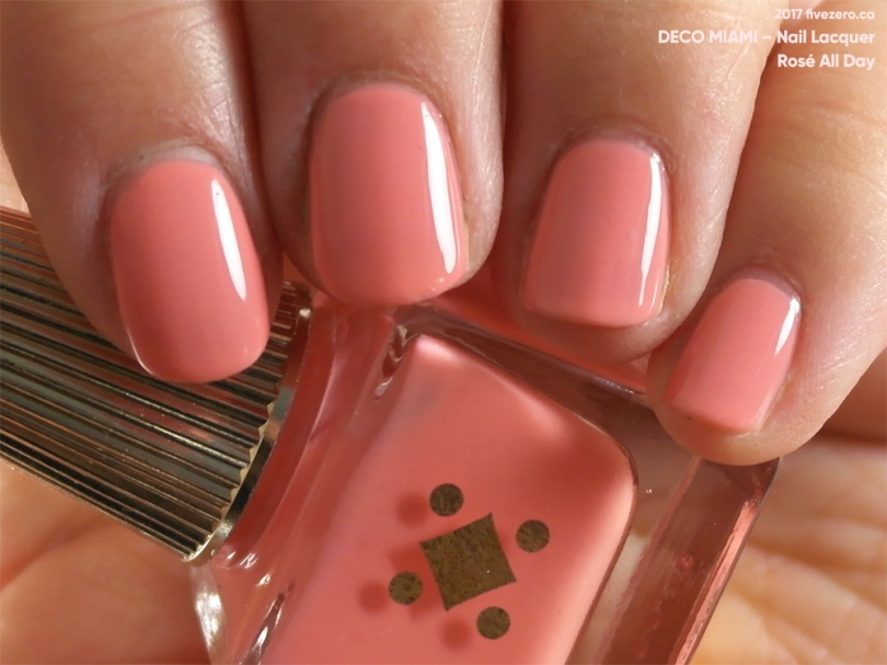 Deco Miami Nail Lacquer in Rosé All Day, swatch