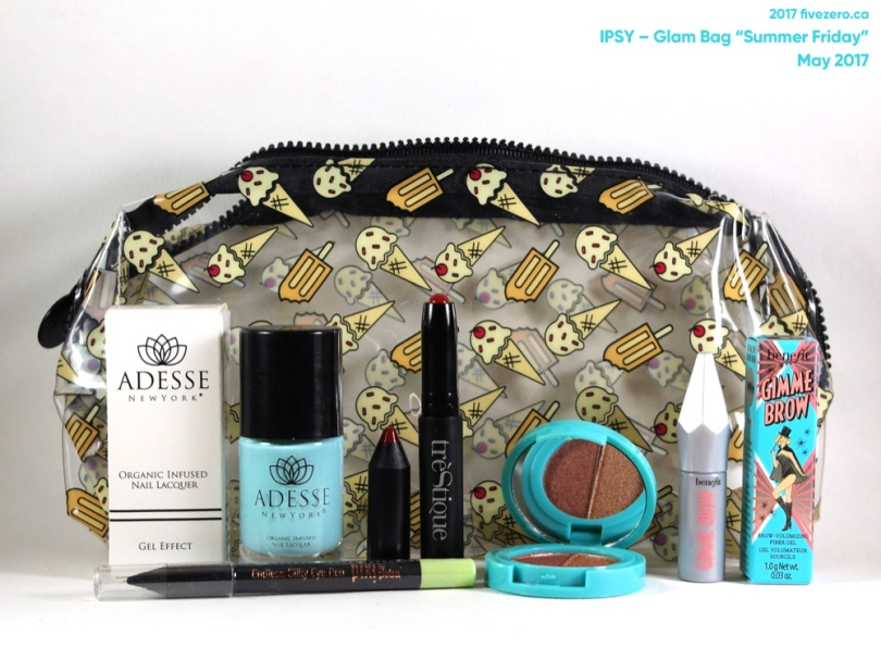 "fivezero's Ipsy Glam Bag ""Summer Friday"" (May 2017)"