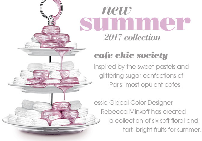 Essie collection, Cafe Chic Society, Summer 2017